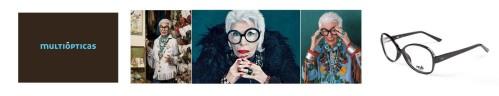Iris Apfel gafas mó Black Multiópticas