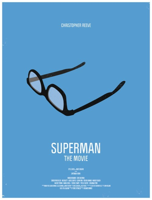 "Original cartel de Superman ""La película"""