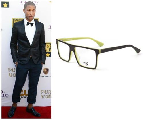 gafas pharrel williams critics choice awards